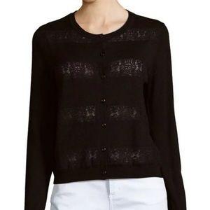 UEC Joie lace black crew neck k cardigan, size s